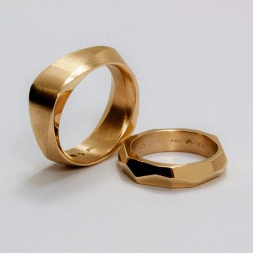 Ett intressant vigselringspar! An interesting pair of wedding bands!